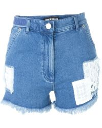 House of Holland - Patched Denim Shorts - Lyst