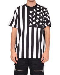 Givenchy Usa Flag Print Columbian Cotton T-Shirt - Lyst