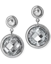 Monica Rich Kosann - Rock Crystal Drop Earrings - Lyst