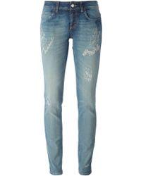 Gucci Distressed Skinny Jeans - Lyst