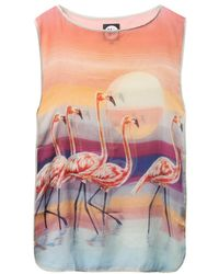 We Are Handsome - The Bahamas Flamingoprint Coverup - Lyst