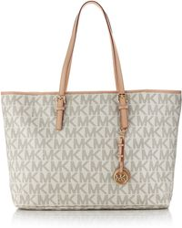 Michael by Michael Kors Jet Set Logo Laptop Travel Tote - Lyst