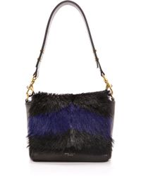 Deadly Ponies - Mr. Nebula Fur Messenger Bag - Cobalt - Lyst
