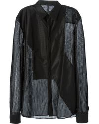 Givenchy Perforated Shirt - Lyst