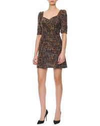 Dolce & Gabbana 12sleeve Portraitneck Dress - Lyst