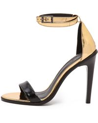 Tibi Amber Ankle Sandals  Gold Multi - Lyst