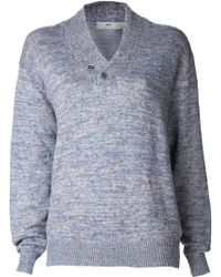 Inis Meáin - Ribbed V-neck Sweater - Lyst