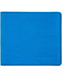 Burberry Prorsum - Blue Leather Bifold Wallet - Lyst