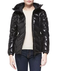 Moncler Shiny Chevronquilted Short Jacket - Lyst