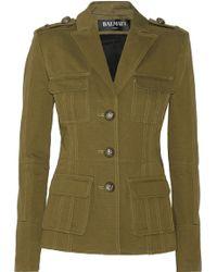 Balmain Cotton-Faille Jacket - Lyst