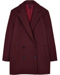 Theory Cafe Nest Washed Twill Weave Coat - Lyst