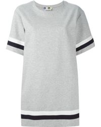 MSGM Logo T-Shirt Dress - Lyst
