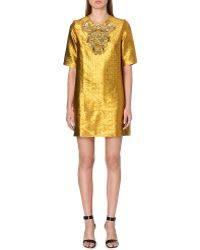 Issa Embellished Metallic Jacquard Dress - Lyst