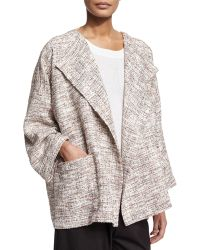 Eskandar - Long-sleeve Open-front Coat - Lyst