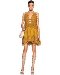 Chloé Peacock Embroidered Tulle Dress - Lyst