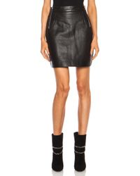 McQ by Alexander McQueen Side Zip Leather Skirt - Lyst
