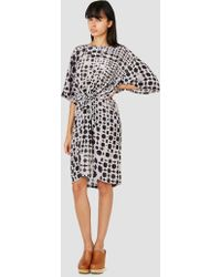 Humanoid Native Silk Tunic Dress Blackish Print gray - Lyst