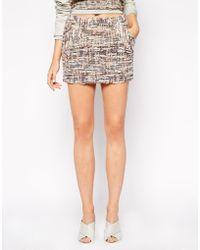 Wackerhaus Pastel Boucle Mini Skirt - Lyst