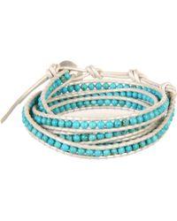 "Chan Luu 32"" Turquoise/Pearl Bracelet - Lyst"