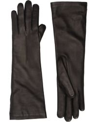 Barneys New York Leather Midforearmlength Gloves - Lyst