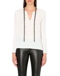 Maje Lightweight Necklace Top - Lyst