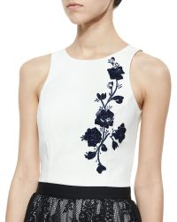 Noir Sachin & Babi 3D Floral Embroidered Tank - Lyst