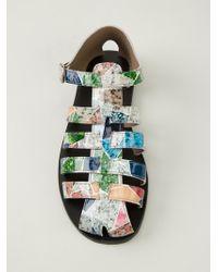 Carven - Geometric Printed Sandals - Lyst