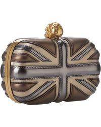 Alexander McQueen Britania Skull Box Clutch - Lyst