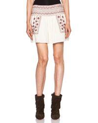 Etoile Isabel Marant Vera Andes Cotton Skirt - Lyst
