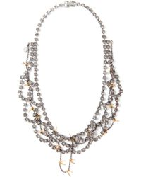 Tom Binns - Scalloped Crystal and Barbed Wire Necklace - Lyst