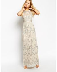 Needle & Thread Embellished Tiered Petal Maxi Dress - Lyst