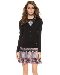 Temperley London Eliza Side Lace Cardigan - Black - Lyst