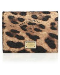 Dolce & Gabbana Leopard-Print Wallet - Lyst