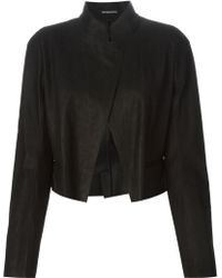 Ann Demeulemeester Cropped Jacket - Lyst