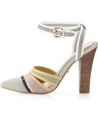 Pour La Victoire Kiran2 Canvas Anklewrap Pump - Lyst
