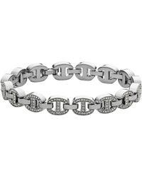 Michael Kors Silver-tone Embellished Maritime Links Bracelet - Lyst