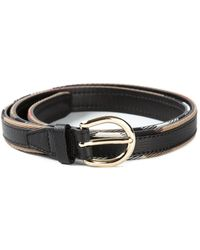 Burberry Skinny Check Belt - Lyst