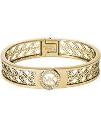 Michael Kors Filigree Logo Bracelet - Lyst