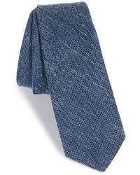 W.r.k. - Stripe Silk & Cotton Tie - Lyst