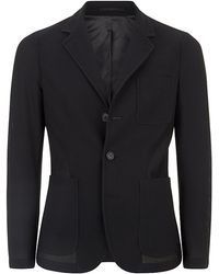 Giorgio Armani Black Honeycomb Jacket - Lyst