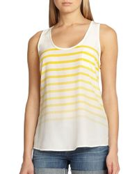 Joie Breton-Striped Silk Tank - Lyst