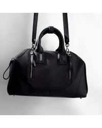 Zara Rigid Bowling Bag with Zips - Lyst
