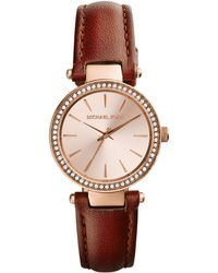 Michael Kors Ladies Petite Darci Rose Gold-Tone Watch - Lyst