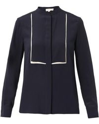 Stella McCartney Caroline Bi-Colour Silk Blouse - Lyst