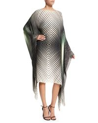 Tamara Mellon - Geometric Chiffon Caftan Dress - Lyst