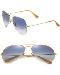 Ray-Ban | Original 62mm Metal Aviator Sunglasses | Lyst