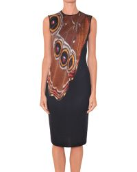Givenchy Viscose Jersey Dress With Butterfly Print - Lyst