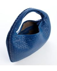 Bottega Veneta Electric Blue Intrecciato Leather Hobo Bag - Lyst