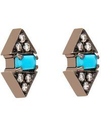 Nikos Koulis - Diamond, Turquoise & White-Gold Earrings - Lyst
