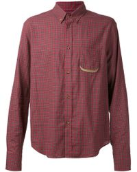 Band Of Outsiders Button Down Plaid Shirt - Lyst